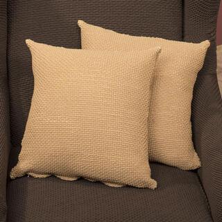 Elastyczne pokrowce CARLA złote, poszewki na poduszkę 2 szt. (40 x 40 cm)