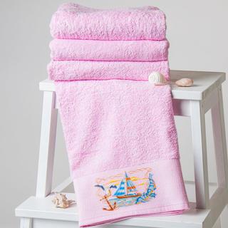 Ręczniki oraz ręcznik kąpielowy Żaglówki różowe