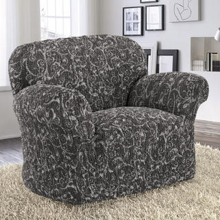 Bi-elastyczne pokrowce INCA antracyt fotel (sz. 60 - 110 cm)