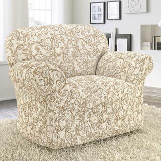 Bi-elastyczne pokrowce INCA beżowe fotel (sz. 60 - 110 cm)