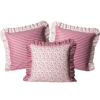 Poszewki bawełniane na poduszki Żaneta czerwone