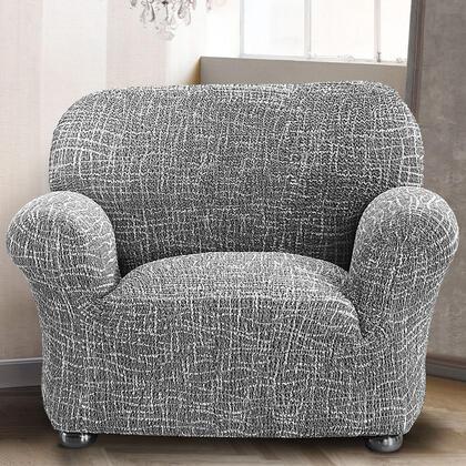 Bi-elastyczne pokrowce GRAFITI antracyt, fotel (sz. 60 - 110 cm)
