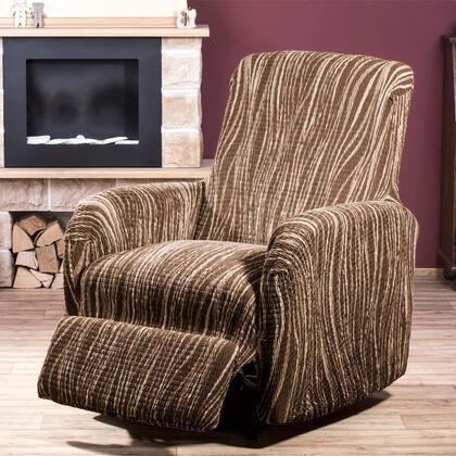 Bi-elastyczne pokrowce UNIVERSO cieniowane brąz fotel relaks (sz. 70 - 90 cm)