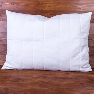 Poduszka pikowana z poszewką wzór żakardowy 70 x 90 cm