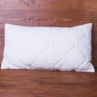 Poduszka pikowana z poszewką wzór żakardowy 30 x 60 cm