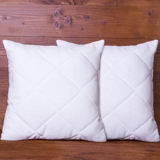 Poduszki pikowane z wzorem żakardowym 40 x 40 cm 2 szt.
