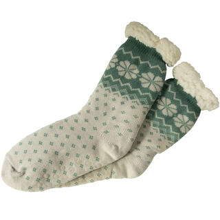 Ciepłe skarpetki do spania zielone
