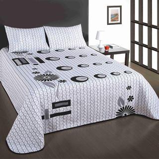 Narzuta z poduszkami Good Night szarobiała