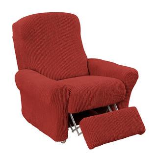 Super streczowe pokrowce GLAMOUR cegła, fotel relaks (sz. 70 - 90 cm)