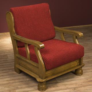 Super streczowe pokrowce GLAMOUR cegła, fotel z drewnianymi bokami (sz. 60 - 80 cm)