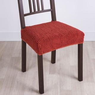 Super streczowe pokrowce GLAMOUR cegła, krzesła 2 szt. 40 x 40 cm
