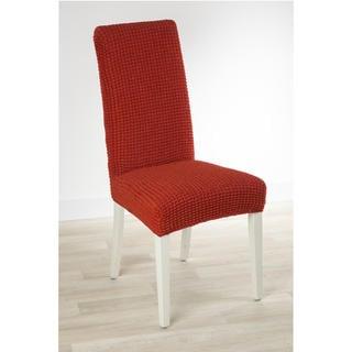 Super streczowe pokrowce GLAMOUR cegła, krzesła z oparciem 2 szt. 40 x 40 x 60 cm