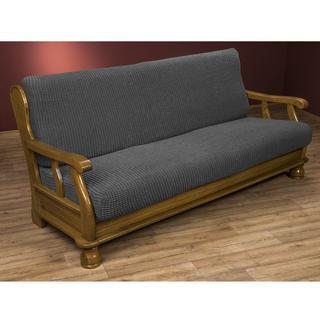 Super streczowe pokrowce GLAMOUR szare, kanapa trzyosobowa z drew. bokami (sz. 170 - 200 cm)