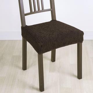 Super streczowe pokrowce GLAMOUR brąz, krzesła - siedzisko 2 szt. 40 x 40 cm