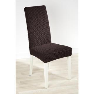 Super streczowe pokrowce GLAMOUR brąz krzesła z oparciem 2 szt. 40 x 40 x 60 cm
