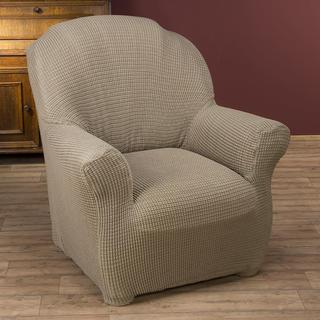 Super streczowe pokrowce GLAMOUR orzeszkowe, fotel (sz. 70 - 120 cm)