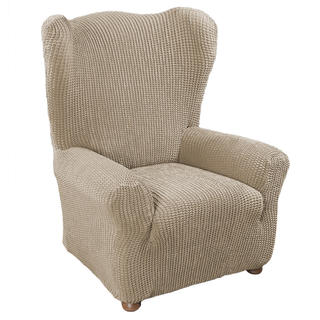 Super streczowe pokrowce GLAMOUR orzeszkowe, fotel uszak (sz. 70 - 85 cm)