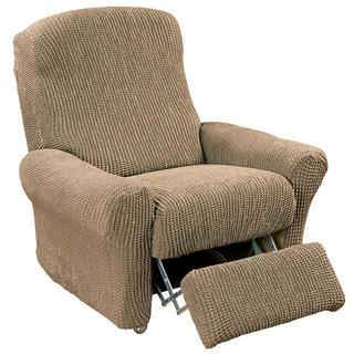 Super streczowe pokrowce GLAMOUR orzeszkowe fotel relaks (sz. 70 - 90 cm)