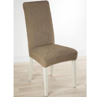Super streczowe pokrowce GLAMOUR orzeszkowe, krzesła z oparciem 2 szt. 40 x 40 x 60 cm