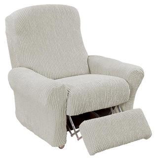 Super streczowe pokrowce GLAMOUR śmietankowe, fotel relaks (sz. 70 - 90 cm)