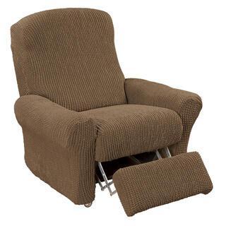Super streczowe pokrowce GLAMOUR tytoń, fotel relaks (sz. 70 - 90 cm)