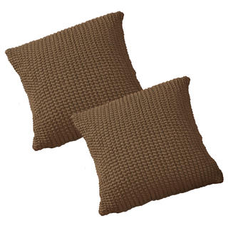 Super streczowe pokrowce GLAMOUR tytoń poszewki na poduszkę 2 szt. (40 x 40 cm)