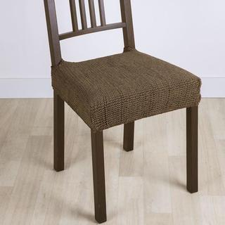 Super streczowe pokrowce GLAMOUR tytoń krzesła 2 szt. 40 x 40 cm