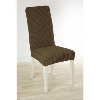 Super streczowe pokrowce GLAMOUR tytoń krzesła z oparciem 2 szt. 40 x 40 x 60 cm