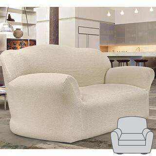 Bi-elastyczne pokrowce CAFFÉ śmietankowe fotel (sz. 60 - 110 cm)