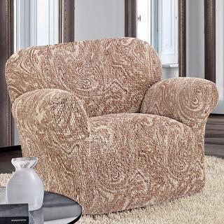 Bi-elastyczne pokrowce MAREA cieniowane beżowy fotel (sz. 60 - 110 cm)