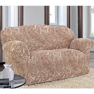 Bi-elastyczne pokrowce MAREA cieniowane beżowy, kanapa trzyosobowa (sz. 170 - 220 cm)