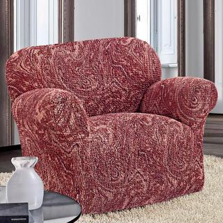 Bi-elastyczne pokrowce MAREA cieniowane bordo, fotel (sz. 60 - 110 cm)