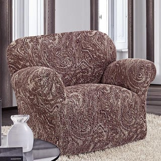 Bi-elastyczne pokrowce MAREA cieniowane brąz, fotel (sz. 60 - 110 cm)