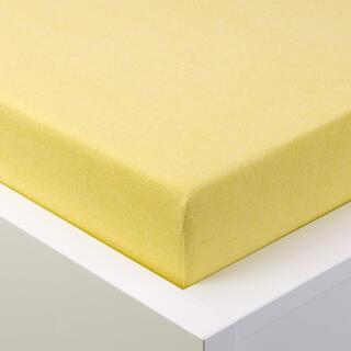 Prześcieradło frotte z gumką EXCLUSIVE jasnożółte łóżko pojedyncze