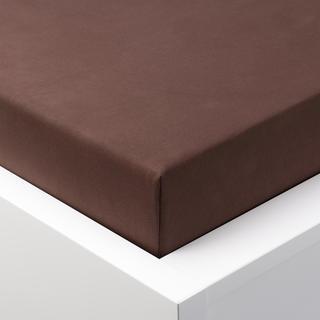 Prześcieradło Jersey z gumką EXCLUSIVE czekoladowe