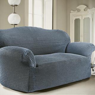 Bi-elastyczne pokrowce ADRIA blue jeans kanapa trzyosobowa (sz. 170 - 220 cm)