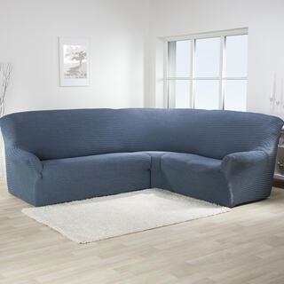 Bi-elastyczne pokrowce ADRIA blue jeans kanapa narożnikowa (sz. 350 - 530 cm)
