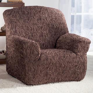 Super streczowe pokrowce 3D FUSTA brązowy, fotel (sz. 70 - 110 cm)
