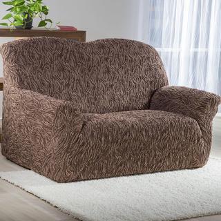 Super streczowe pokrowce 3D FUSTA brązowy, kanapa trzyosobowa (sz. 180 - 220 cm)
