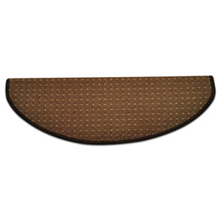 Dywanik na schody półokrągły BIRMINGHAM brązowy
