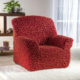 Super streczowe pokrowce 3D DICKSON cegła, fotel (sz. 70 - 110 cm)