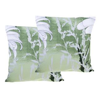 Poszewki bawełniane na poduszki Daisy zielona 2 szt.