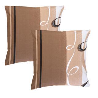 Poszewki bawełniane na poduszki Twist brązowe 2 szt.
