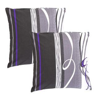 Poszewki bawełniane na poduszki Twist szare 2 szt.