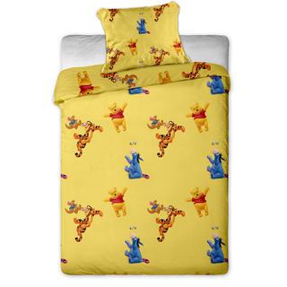 Pościel dziecięca do łóżeczka miś Puchatek żółta