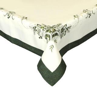 Obrus wigilijny haftowany zielony