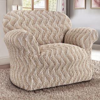 Bi-elastyczne pokrowce INFINITO beżowy, fotel (sz. 60 - 110 cm)