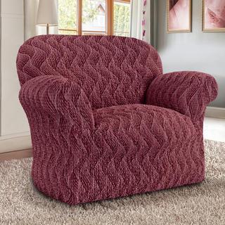 Bi-elastyczne pokrowce INFINITO bordo, fotel (sz. 60-110 cm)
