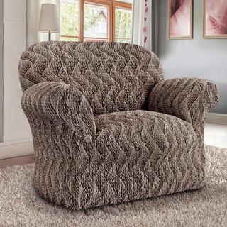 Bi-elastyczne pokrowce INFINITO brązowy, fotel (sz. 60 - 110 cm)