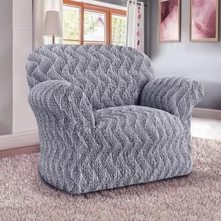 Bi-elastyczne pokrowce INFINITO szary, fotel (sz. 60 - 110 cm)